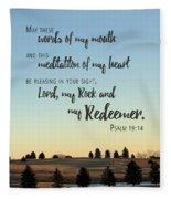 Meditation Of My Heart Fleece Blanket