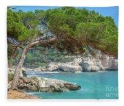 Mediterranean Landscape In Menorca Fleece Blanket