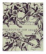 Melbourne Cup 1960 Fleece Blanket