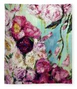 Melting Flowers Fleece Blanket