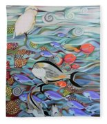 Memory Of The Coral Reef Fleece Blanket