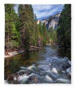 Merced River, Yosemite National Park Fleece Blanket