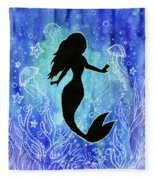 Mermaid Under Water Fleece Blanket