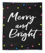 Merry And Bright 2- Art By Linda Woods Fleece Blanket