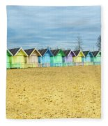 Mersea Island Beach Huts, Image 4 Fleece Blanket
