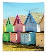 Mersea Island Beach Huts, Image 7 Fleece Blanket