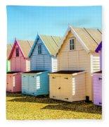 Mersea Island Beach Huts, Image 9 Fleece Blanket