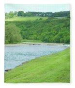 Mertoun Salmon Beat On River Tweed Fleece Blanket