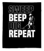Metal Detector Beach Pun Apparel Fleece Blanket