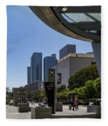 Metro Station Civic Center Los Angeles Fleece Blanket