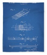 Microscope Slide Patent Fleece Blanket