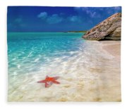Middle Caicos Tranquility Awaits Fleece Blanket