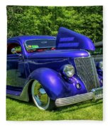 Mild Customs 1936 Ford And 1953 Chevy Fleece Blanket