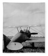 Military Biplane - Marine Flying Field - 1918 Fleece Blanket