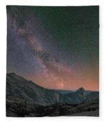 Milky Way Over Half Dome, Yosemite Fleece Blanket