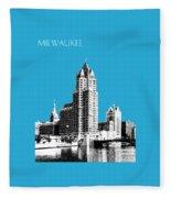 Milwaukee Skyline - 4 - Coral Fleece Blanket