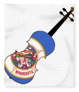Minnesota State Fiddle Fleece Blanket