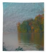 Mississippi Rivers Edge Fleece Blanket