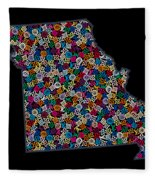 Missouri Map - 2 Fleece Blanket