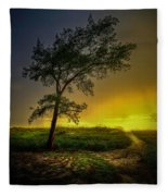 Misty Sunset Fleece Blanket
