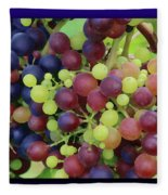 Mixed Grape Bunches 4 Fleece Blanket