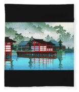 Miyajima In The Mist - Digital Remastered Edition Fleece Blanket