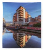 Modern Canal Living Fleece Blanket
