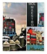 Mol Maestro Collage Fleece Blanket