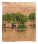 Molesey Lock And Weir Fleece Blanket