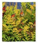 Monarch Gathering 1 Fleece Blanket