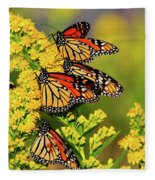 Monarch Gathering 2 Fleece Blanket