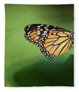 Monarch On Milkweed Fleece Blanket