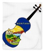 Montana State Fiddle Fleece Blanket