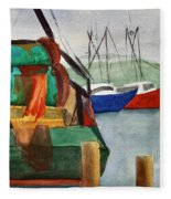 Montauk Dock W Fleece Blanket