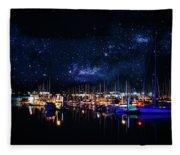 Monterey Bay At Night Fleece Blanket