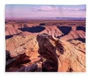 Monument Valley At A Distance Fleece Blanket