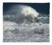 Moody Ocean Fleece Blanket