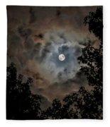 Moon And Clouds 2 Fleece Blanket by Allin Sorenson