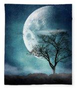 Moon Blues Fleece Blanket