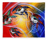 Moon Dance 4 Fleece Blanket