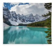 Moraine Lake Range Fleece Blanket