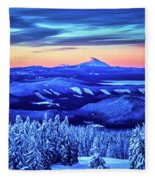 Morning From Timberline Lodge Fleece Blanket