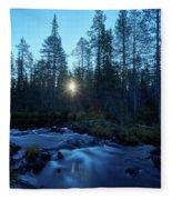 Morning Has Broken At Hepokongas Waterfall Fleece Blanket