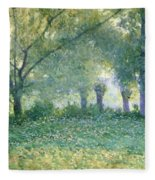 Morning Mist Also Known As Late Spring Fleece Blanket