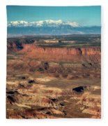 Morning Over Canyonlands Fleece Blanket