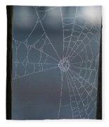 Morning Spider Web Fleece Blanket