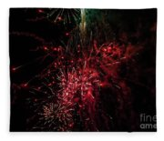 Mostly Red And White Fireworks Fleece Blanket