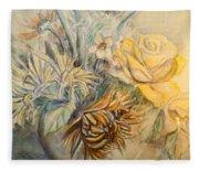 Mother's Day Flower Fleece Blanket