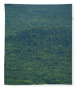 Mount Greylock Reservation's Trees Fleece Blanket