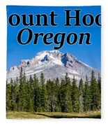 Mount Hood Oregon In Fall Fleece Blanket